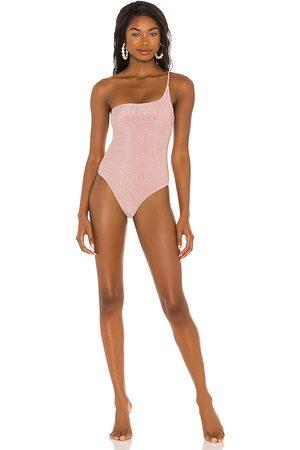 Nookie X REVOLVE One Shoulder One Piece Bikini in Blush.