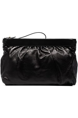 Isabel Marant Luz ribbed ruched clutch