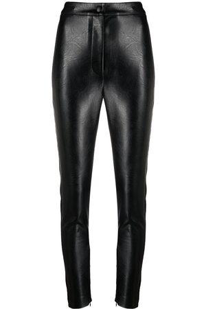 Stella McCartney Women Leather Pants - Faux-leather skinny trousers