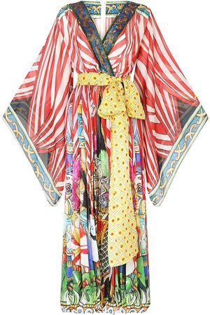 Dolce & Gabbana Women Jumpsuits - Motif-print silk jumpsuit
