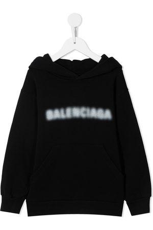 Balenciaga Boys Hoodies - Blurry logo-print hoodie