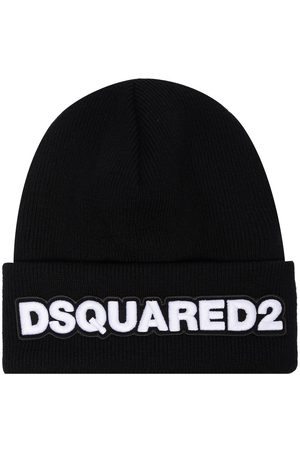 Dsquared2 Men Beanies - Embroidered logo patch beanie