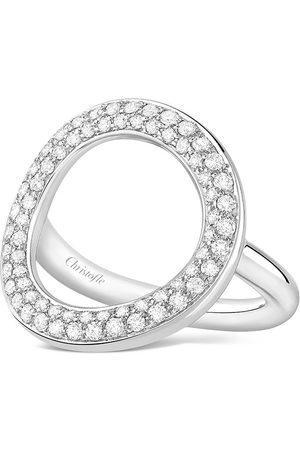 Christofle 18kt white gold Idole de 66 diamond bridge ring