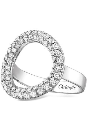 Christofle 18kt white gold Idole de 56 diamond bridge ring