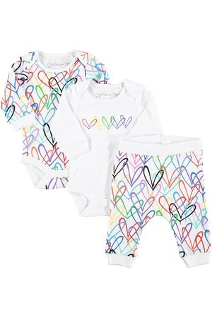 From Babies With Love Bodysuits & All-In-Ones - X James Goldcrown Lovewall bodysuits and jogger set