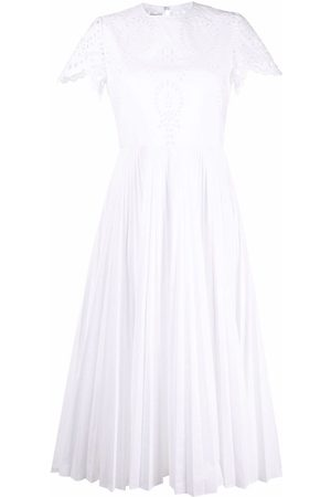 Valentino Women Dresses - Broderie anglaise pleated dress