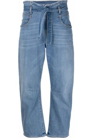 Pinko Women Tapered - Paperbag-waist tapered jeans