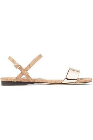 Jimmy Choo Women Flat Shoes - Aadra flat open-toe sandals