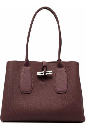 Longchamp Roseau pebbled-leather shoulder bag
