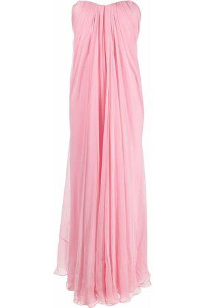 Alexander McQueen Strapless flared gown