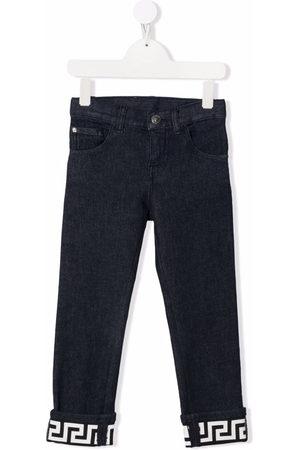 VERSACE Boys Slim - Greca slim-cut jeans