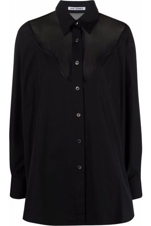 Our Legacy Women Shirts - Panelled button-up shirt