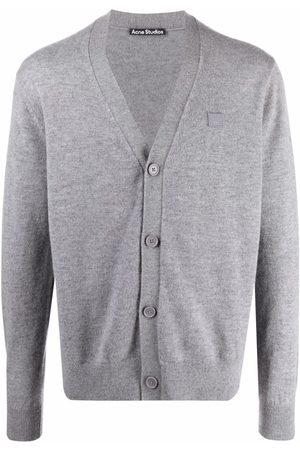 Acne Studios Cardigans - V-neck wool cardigan - Grey