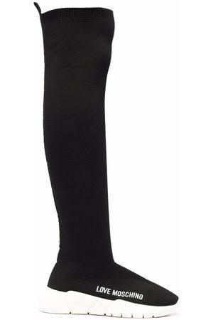 Love Moschino Women Midi Skirts - Knee-length sock boots
