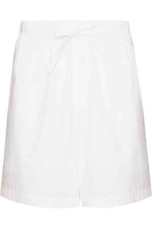 Tekla Men Boxer Shorts - High-waisted drawstring poplin shorts