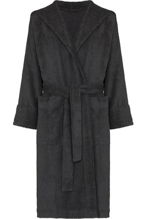 Tekla Belted hooded bathrobe - Grey