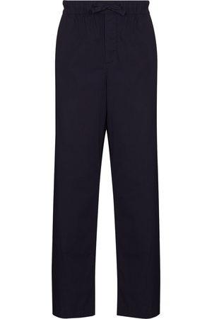 Tekla Drawstring poplin pajama trousers