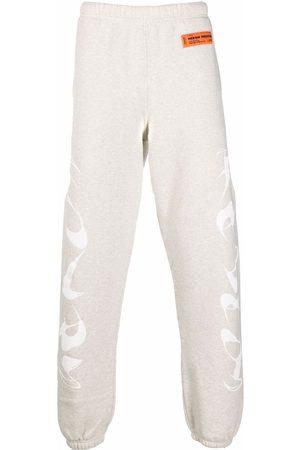 Heron Preston Men Sweatpants - Logo-print track pants - Grey
