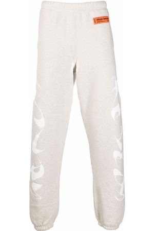 Heron Preston Men Sweatpants - PLAIN SWEATPANTS HP BRUSH GREY MELANGE W