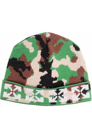 OFF-WHITE Arrows camouflage-pattern virgin wool beanie