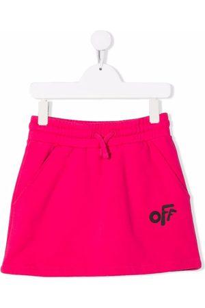 OFF-WHITE Logo-print track skirt