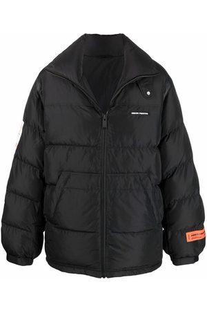 Heron Preston Men Puffer Jackets - Label-embroidered puffer jacket