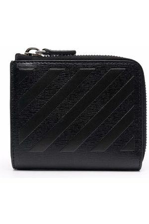 Off-White Men Wallets - 3D diagonal zip wallet