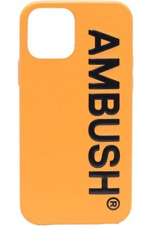 AMBUSH Phones Cases - IPHONE 12 PRO CASE MAXI LOGO BLAC