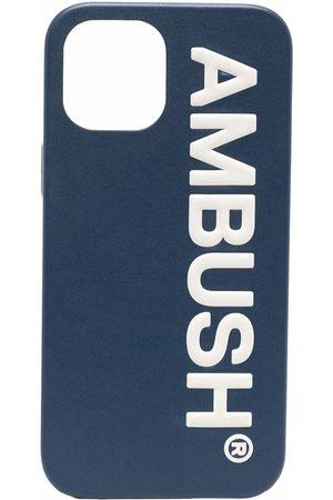 AMBUSH Phones Cases - IPHO 12 PROMAX CASE MAXI LOG NAVY TOFU