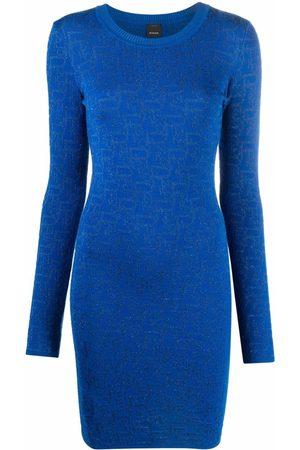 Pinko Ribbed-knit long-sleeved dress
