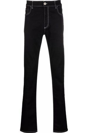 BILLIONAIRE Men Straight - Contrast stitching straight-leg jeans