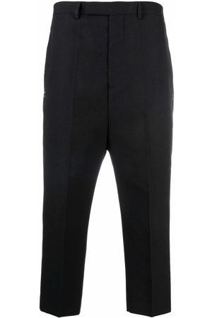 Rick Owens Men Straight Leg Pants - Astaires cropped straight-leg trousers
