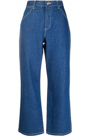 Tory Burch Women High Waisted - High-rise cropped jeans