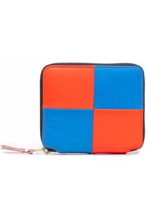 Comme des Garçons Checked colourblock leather wallet