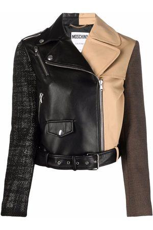 Moschino Multi-panel biker jacket