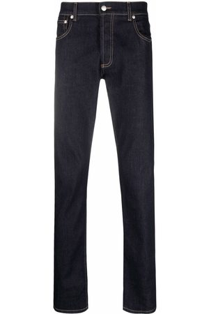 Alexander McQueen Logo-embroidered slim-fit jeans