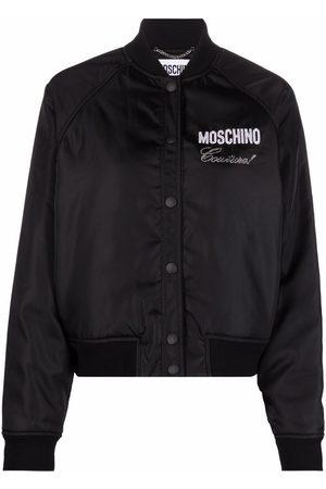 Moschino Logo-print bomber jacket