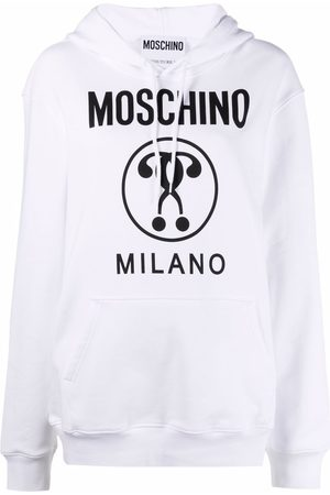 Moschino Double Question Mark print hoodie