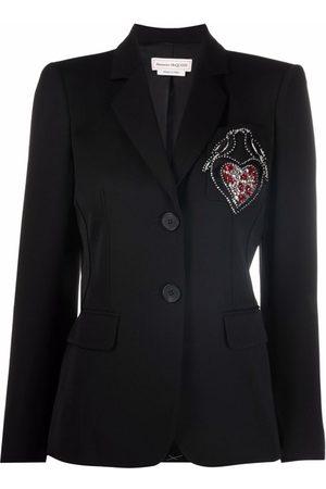 Alexander McQueen Rhinestone-embellished blazer dress