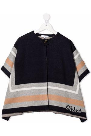 Chloé Colour-block wool-blend coat