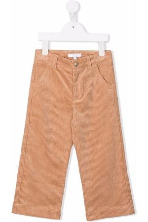 Chloé Kids Corduroy straight-leg trousers - Neutrals