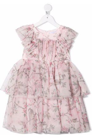 MONNALISA Floral ruffle-layered dress
