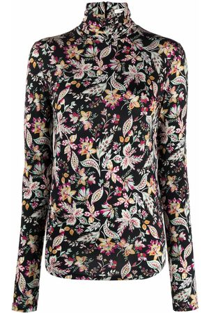 Isabel Marant Women High Necks - High-neck floral-print top