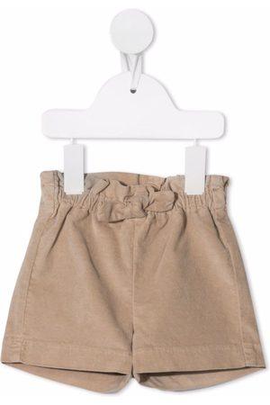 Il gufo Shorts - Elasticated velvet shorts - Neutrals