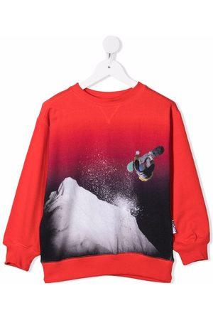 Molo Snowboarding-print cotton sweatshirt