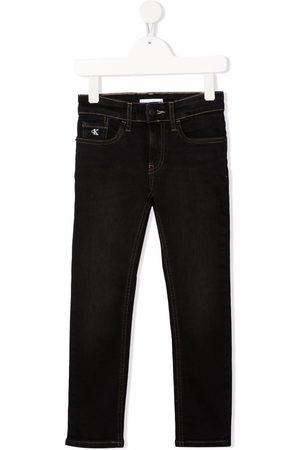 Calvin Klein Mid-rise straight-leg jeans