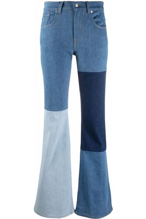 7 for all Mankind Women High Waisted - High-rise patchwork flared jeans