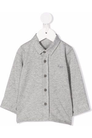 Il gufo Embroidered-logo polo shirt - Grey