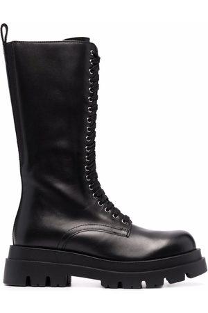 Twin-Set Ridged lace-up boots