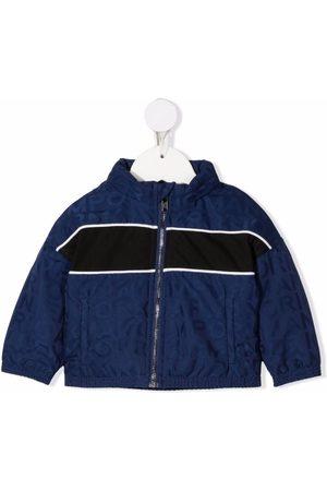 Emporio Armani Logo-print panelled jacket